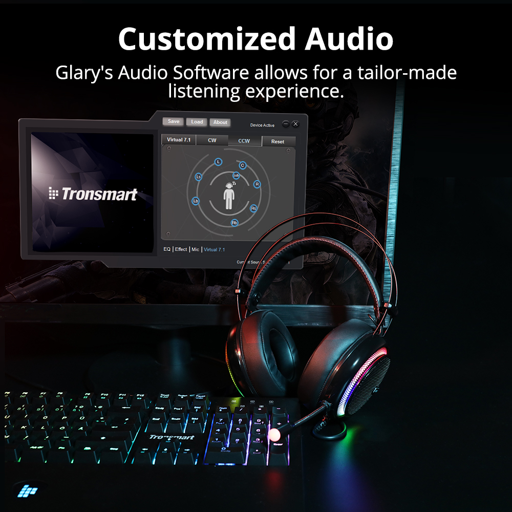 Tronsmart Glary Gaming Headset ps4 headset Virtual 7.1,USB Interface Gaming Headphones for ps4,nintendo switch,Computer,Laptop 5