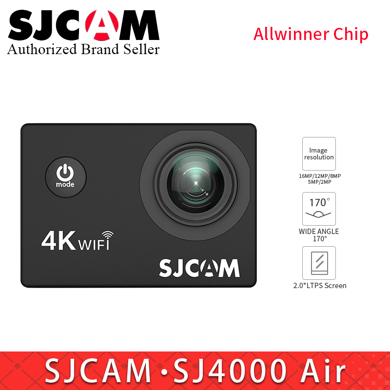 SJCAM SJ4000 AIR 4K WiFi Action Camera Full HD Allwinner 30fps Sport DV 2.0 Screen Mini Helmet Camera Waterproof MINI SJ CAM DV купить