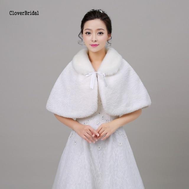 White Free Size White Affortable Bolero Mariage Winter Wedding ...