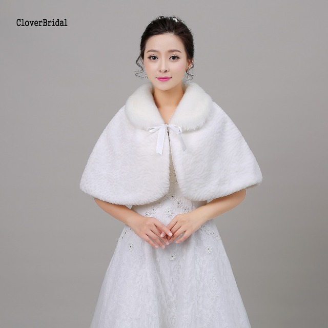 White Free Size White Affortable Bolero Mariage Winter Wedding Coats ...