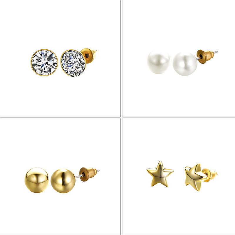 Neue Silber Farbe Halskette Bolzen Ohrring Schmuck-Set für Bräute Braut Brautjungfer Hochzeit Jewerly Sets für Frauen
