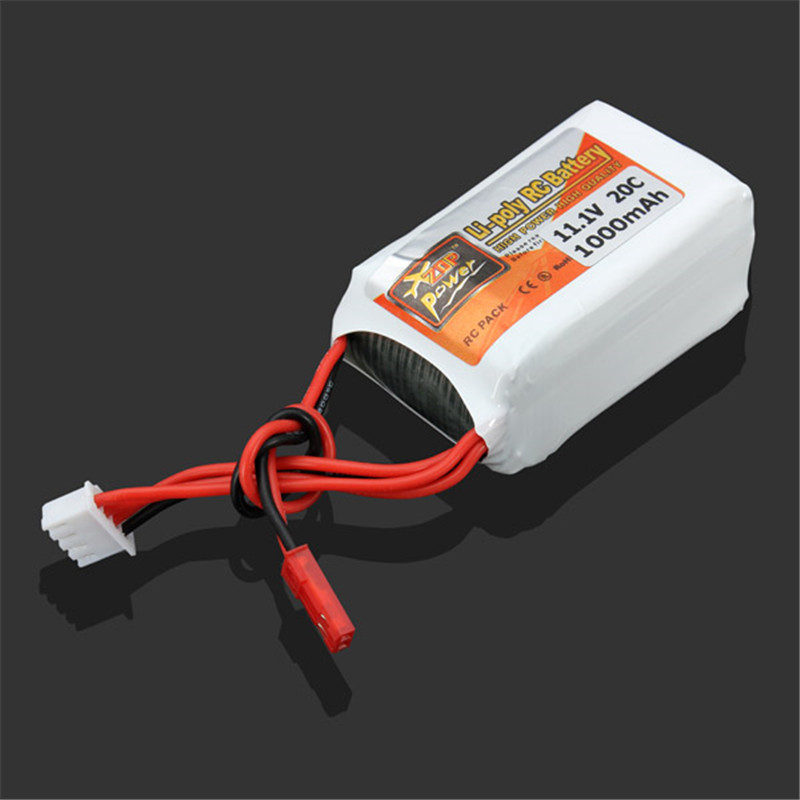 2017 Newest High Quality Rechargeable ZOP Power 3S 11.1V 1000MAH 20C Lipo Battery JST Plug Off-Price for Quadcopter Helicopter free shipping tattoo machinne components 10pcs needle sleeve 10pcs front casing 10pcs transmission shaft