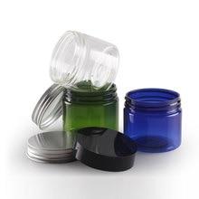 лучшая цена 20 X 50g Colored Empty Round Cosmetic Cream Jars With Screw Lids 1.7oz Clear Cream Containers For Cosmetics Plastic Jar Pot Tin