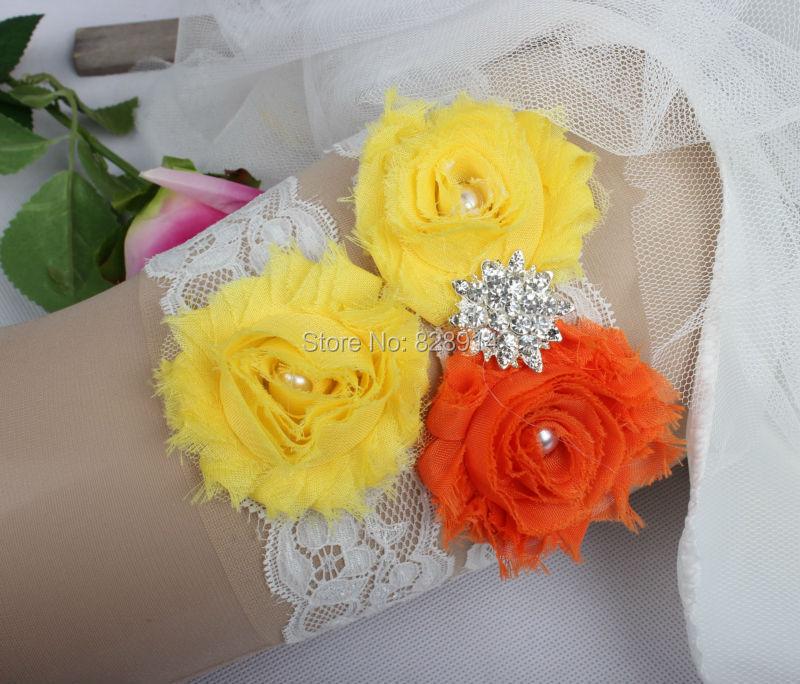 Кружевная отделка потертый цветок Свадебная подвязка для свадьбы из потертого цветка ручной работы