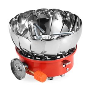 Image 3 - Lixada 2800W extérieur pliant coupe vent piézo allumage cuisinière à gaz Camping sac à dos cuisinière ustensiles de cuisine