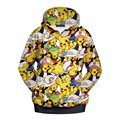 New Arrival  Harajuku Girl Autumn Coat Pokemon Cartoon Pikachu Fans Printed Hooded Sweatshirt Fitness Outside Women Hoodies