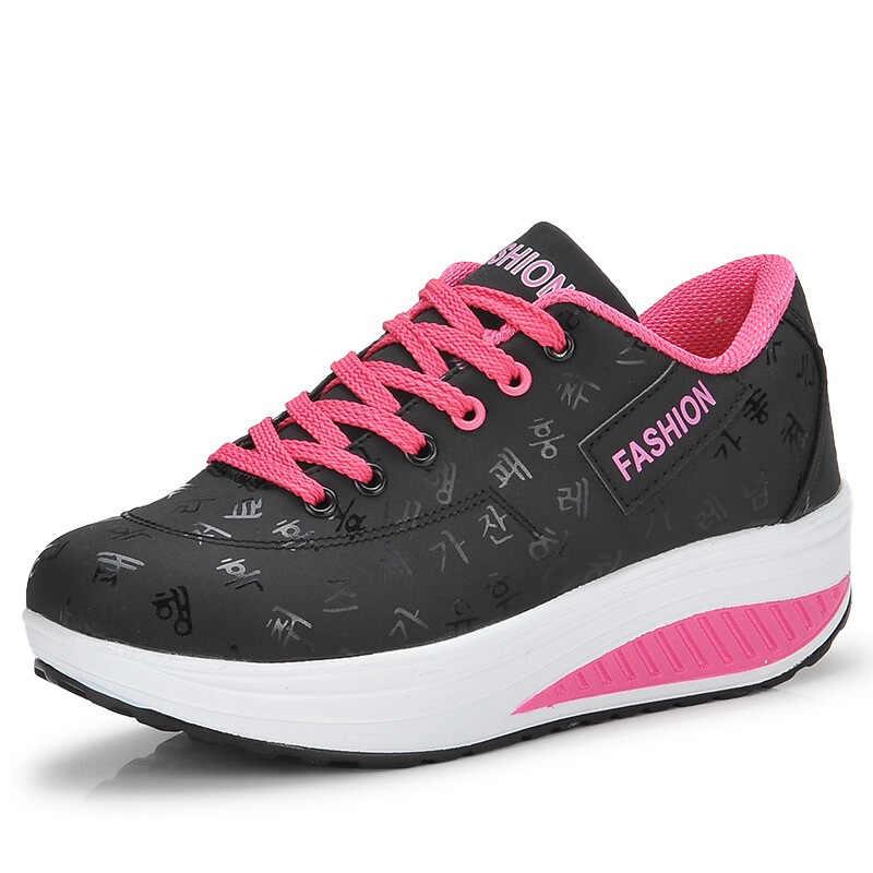 Akexiya Grande formato 41 42 grosso scarpe da ginnastica zapatos de mujer scarpe da donna donna zapatillas cestini da corsa femme femmina scarpa da tennis 2019