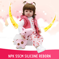NPK 48cm Silicone Reborn Sleeping Baby Doll Kids Playmate Gift for Girls Baby Alive Soft Toys for Bouquets Doll