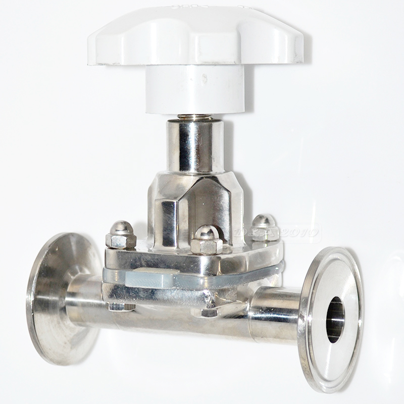 MEGAIRON OD 25MM 1 Sanitary Fitting Diaphragm Valve Clamp Type Stainless Steel SS SUS 316 new style45mm 1 3 4 sanitary fitting diaphragm valve clamp type stainless steel ss sus 316