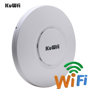 Image 2 - KuWfi Indoor Wireless Router 300M Wireless Ceiling AP Router WiFi Access Point AP With 48V POE Wi fi Signal Amplifier