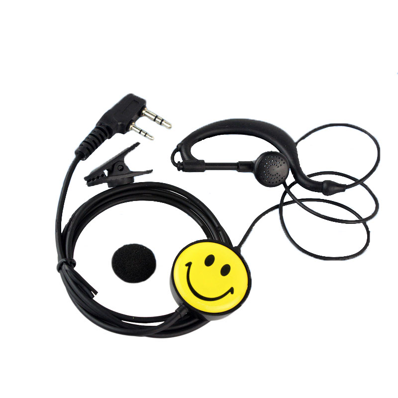 Walkie Talkie Headset Walkie Talkie Headset Earphones Smiley Headset K Type Universal