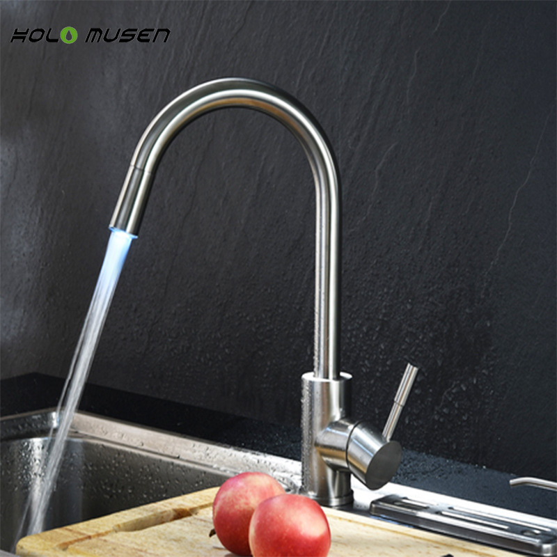 Sus304 Stainless Steel Kitchen Faucets Brushed Mixer Water: Quality Brushed Nickel Lead Free 304 Stainless Steel