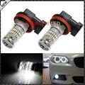2 unids X-Blanco Brillante BOMBILLA $ number SMD H8 H9 H11 Bombillas LED w/Diseño Del Espejo Reflector Luces de Niebla DRL Bombillas de repuesto