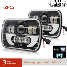 "CO LIGHT 5X7 7X6"" 55W LED Headlights Sealed Beam Replacement for Jeep Cherokee XJ Trucks Nissan Pickup 9-32V 6000K 12V 24V(China)"