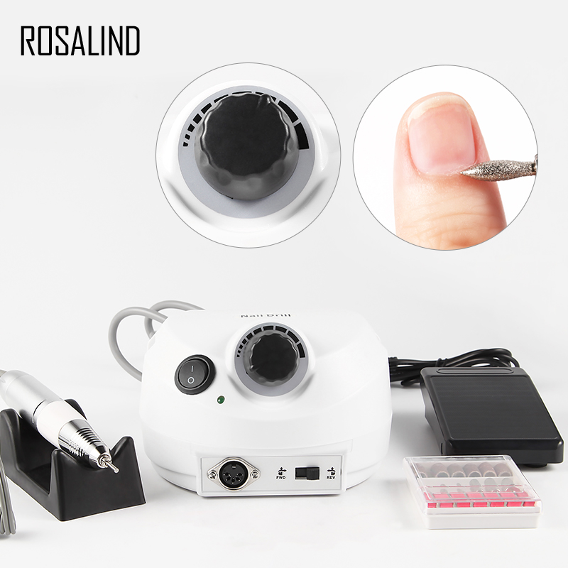 ROSALIND Electric Manicure Drill New Arrival EU Plug Nail Design Nail Art Nails Accessories Drill Equipment Nail File digital clamp meter multimeter uni t ut204 professional true rms lcd multifunction ohm dmm dc ac voltmeter ac ammeter data hold
