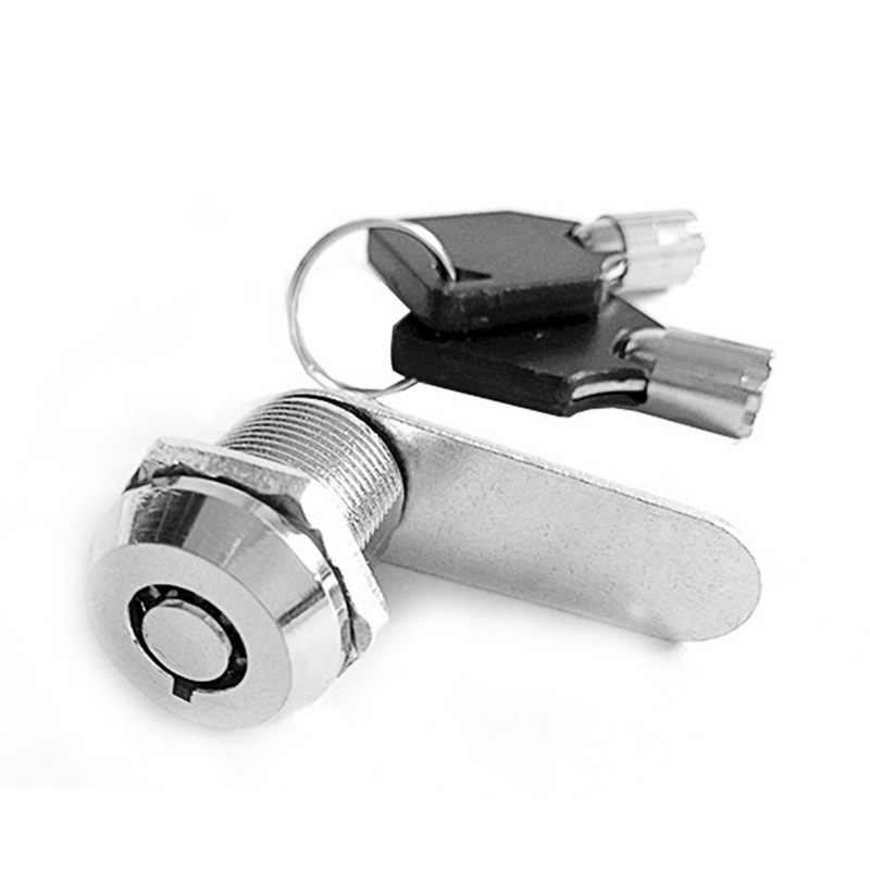 Urijk 1set 16/20/25/30mm Mailbox Locks Drawer Cupboard Lock  Keys High Quality Tubular Cam Cylinder Locks For Safebox Or Files