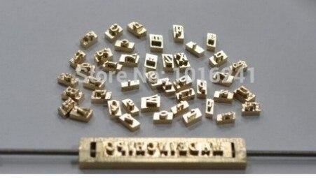 Alfabetos de latón de cobre de 6 mm de altura moldean 26 piezas con - Electrónica de oficina