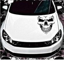 الجمجمة رئيس ملصقات السيارات والشارات عاكس الفينيل سيارة التصميم السيارات محرك هود الباب نافذة سيارة صائق كبير حجم 40x36 سنتيمتر