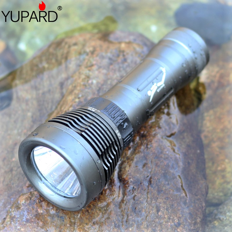 YUPARD diving diver  Underwater   XM-L2 T6  led Flashlight Torch Waterproof Light Lamp outdoor sport fishing camping hunting