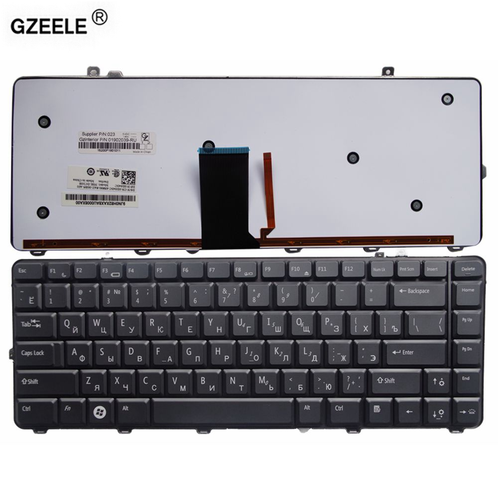GZEELE new Laptop Keyboard for <font><b>Dell</b></font> 1535 <font><b>1435</b></font> 1555 PP39L PP24L RU layout black with Backlight russian notebook replacement image