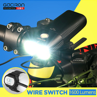 1600 Lumens Bicycle Light MTB Front Light Cycling Headlight Power Bank Waterproof USB Rechargeable Bike Light Flashlight GACIRON