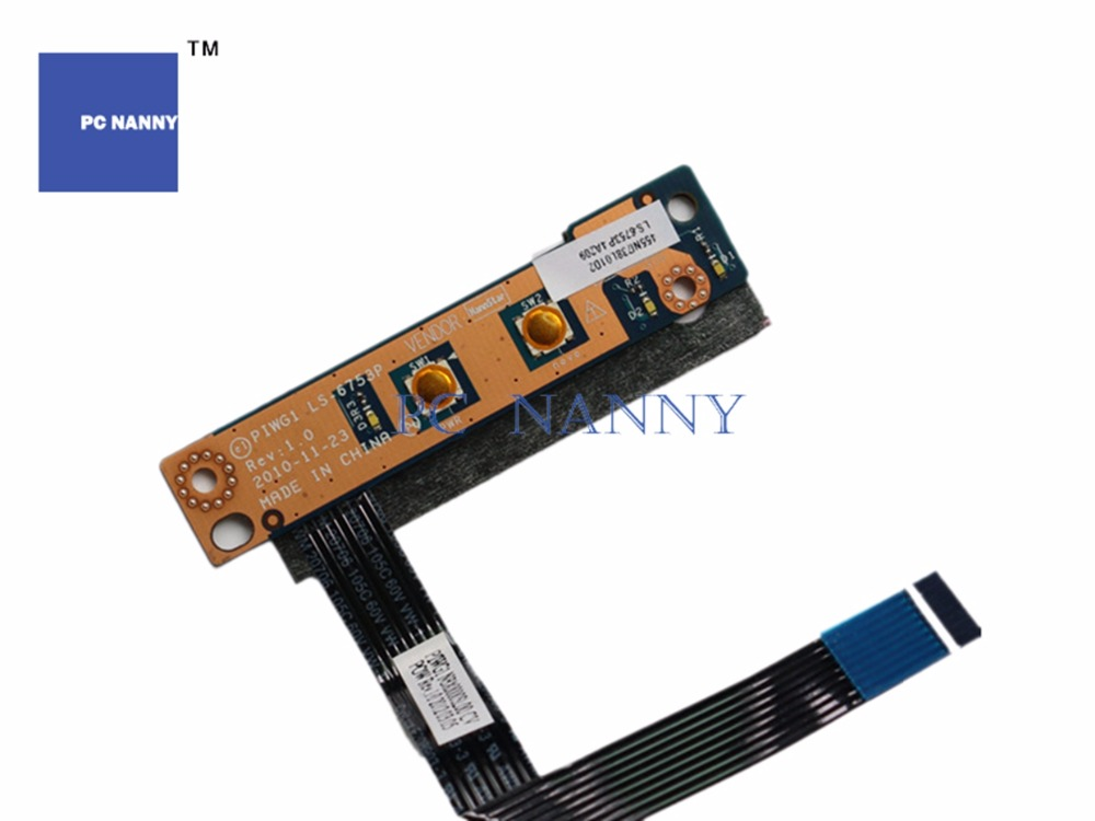 Provided Pc Nanny Original Power Switch On Off Button Board For Lenovo G470 G475 G570 G575 Piwg1 Power Board Dis W/ffc Ls-6753p Works Matching In Colour Computer Cables & Connectors