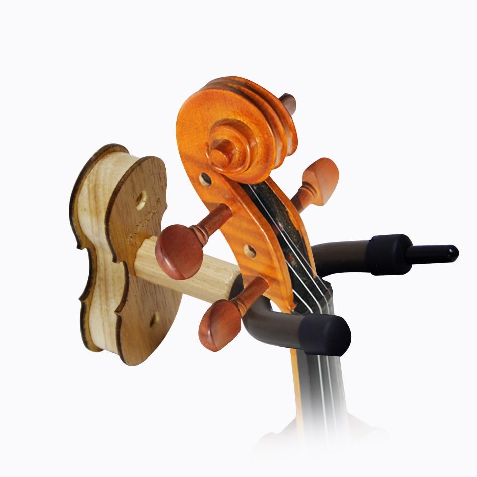 kolos 솔리드 우드 바이올린 벽걸이 걸이 바이올린 액세서리