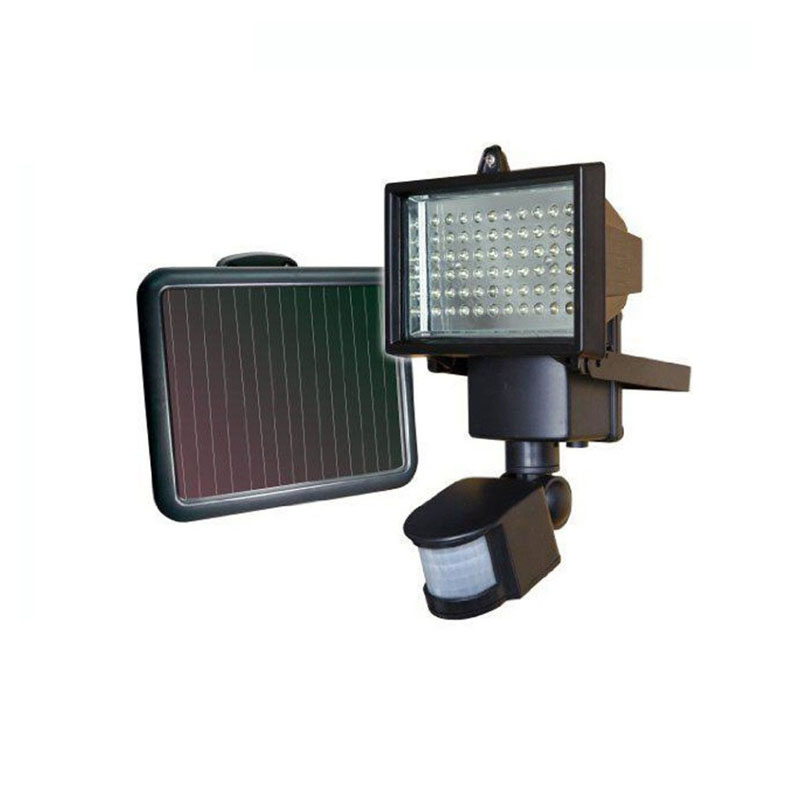 1X Hot sales Solar 60LED 20W flood light with PIR Motion Sensor free shipping ds 360 solar sensor led light black