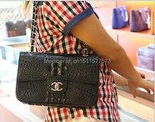 Free shipping women fashion handbag genuine crocodile skin leather women shoulder bag
