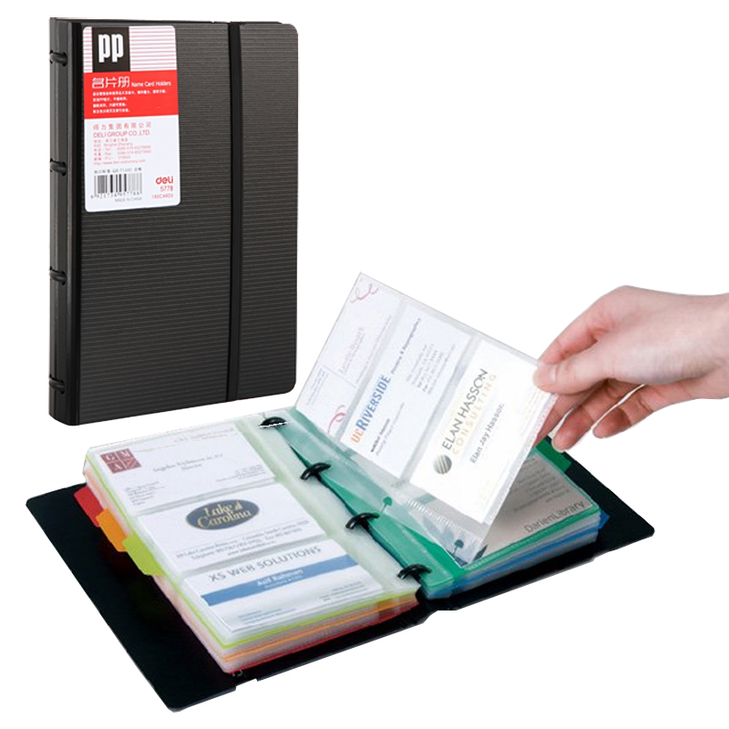Deli 5778 Business Card Book Easy To Classify Easy To Install Loose Leaf Business Card Holder Book Books Names Name Card Book