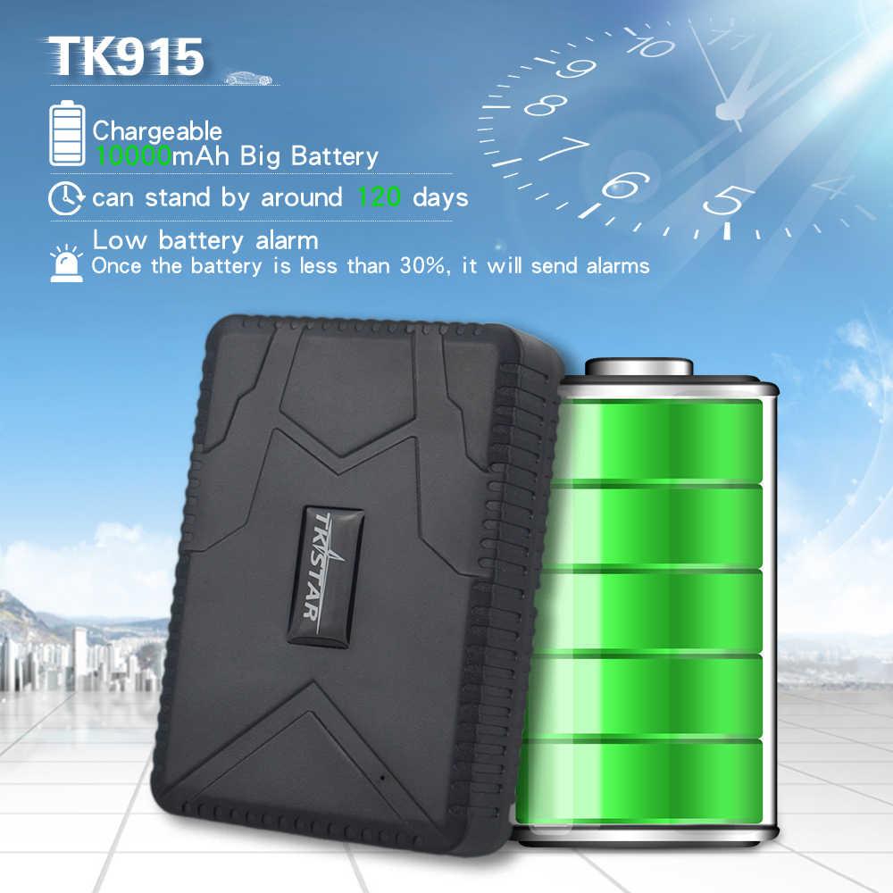 Автомобильный GPS-трекер TKSTAR TK 915, локатор, магнит растадора, водонепроницаемый аккумулятор 10000 мАч, отслеживание в режиме реального времени