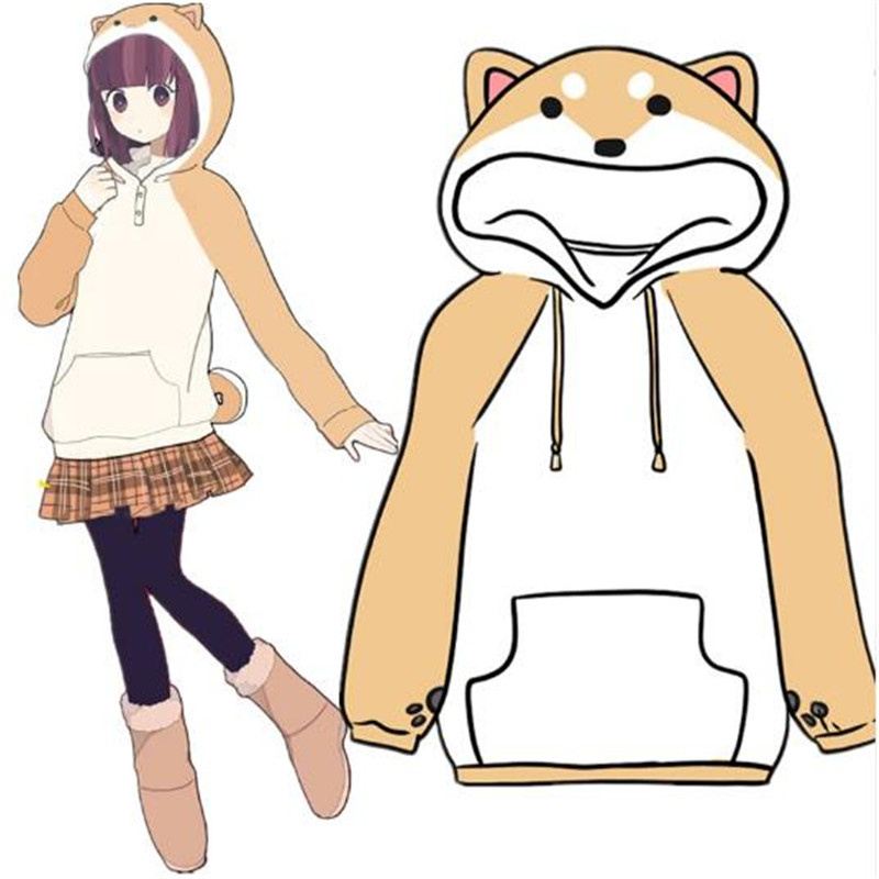 Japanese men and women Doge Muco/ lovely home Mu Ke Shiba Hooded Jacket anime theme Hoodie