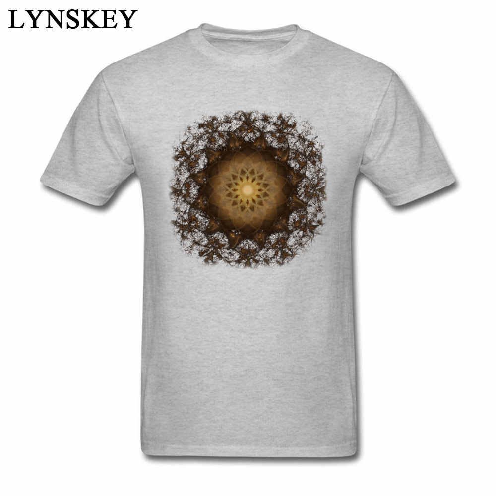 Nova Listagem 3D Design Unfading Mandala Impresso Tops T Camisa de Algodão dos homens Cobre T-shirt Estilo Retro Clássico