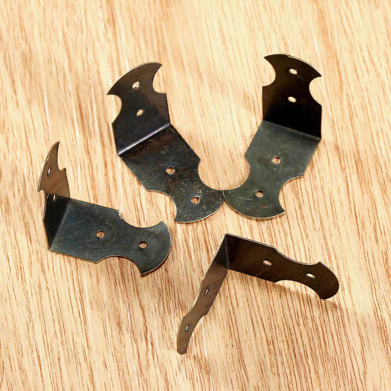 4 шт. антикварных бронзовых морских звезд, угол декоративные защитные Ювелирная Подарочная коробка деревянная декоративная наволочка для ноги Угловые протекторы для мебели