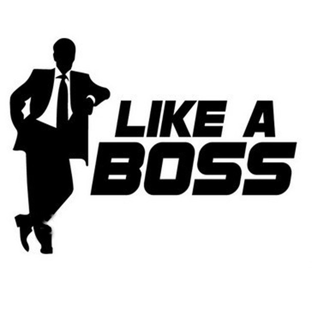 100 pieces lot wholesale like a boss car decals stickers car window stickers