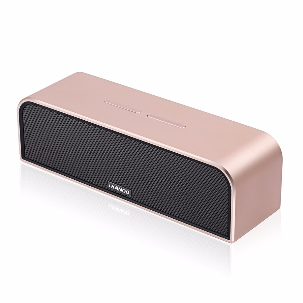 iKANOO Portable i988 Wireless Bluetooth Speaker with Mic Hands-free Calls Stereo Music Surround Support TF AUX USB portable bluetooth v3 0 speaker w tf fm hands free calls golden purple multi colored