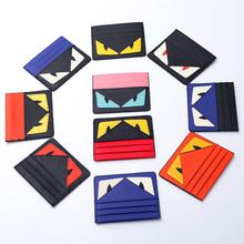 2016 Real Passport Cover The Small Monster Card Bag Ladies Leather Slim Korean Mini Credit Cards To Students Men's Bank Holder