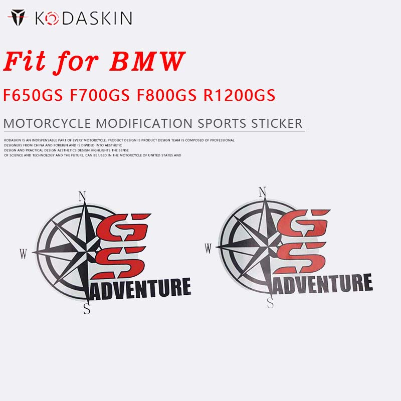 KODASKIN GS Emblem Sticker Decal For BMW F650GS F700GS F800GS R1200GS Adventure