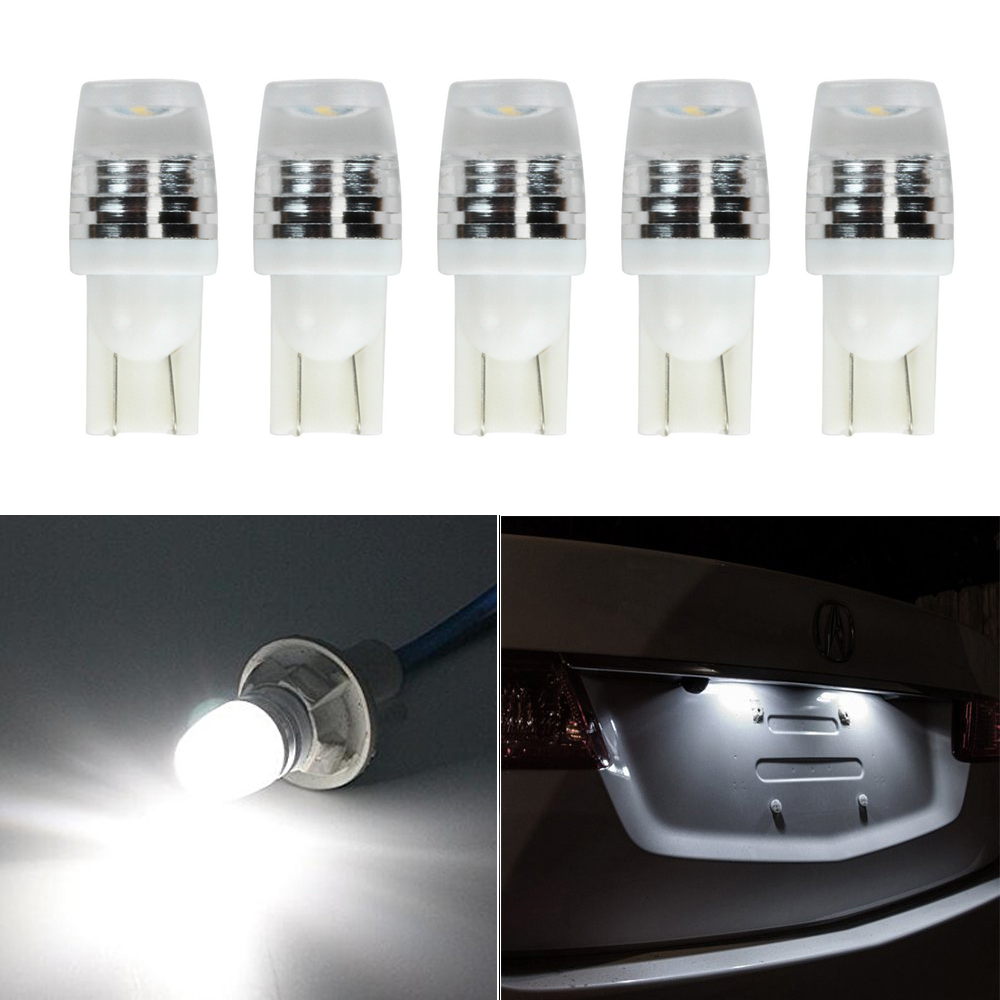 Welback T10 W5W 2 SMD 2323 LED Bulbs for Car Interior Dome Map Door Courtesy License Plate Lights 6000K White