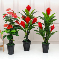 160cm/170cm artificial lucky strike tree artificial greenery plastic plant artificial tree faux plants for home decoration