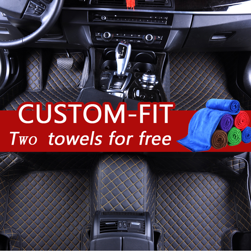 TENGRUI Car Carpets Custom Car Floor Mats for honda All accord 2008 1997/crv 2008/fit 2009/stream Car Accessories Carpets