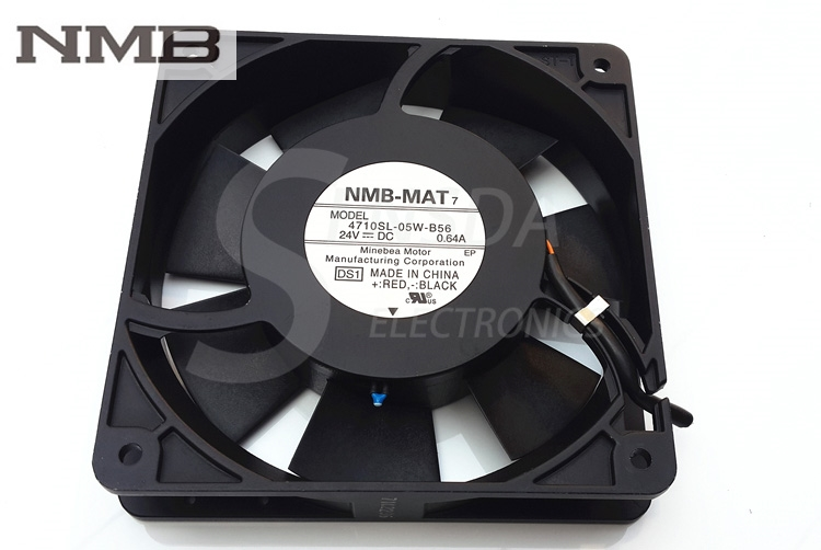 все цены на  NMB 4710SL-05W-B56 12025 24V 0.64A 12cm 120mm aluminum frame high tempreture axial industrial cooling fan  онлайн