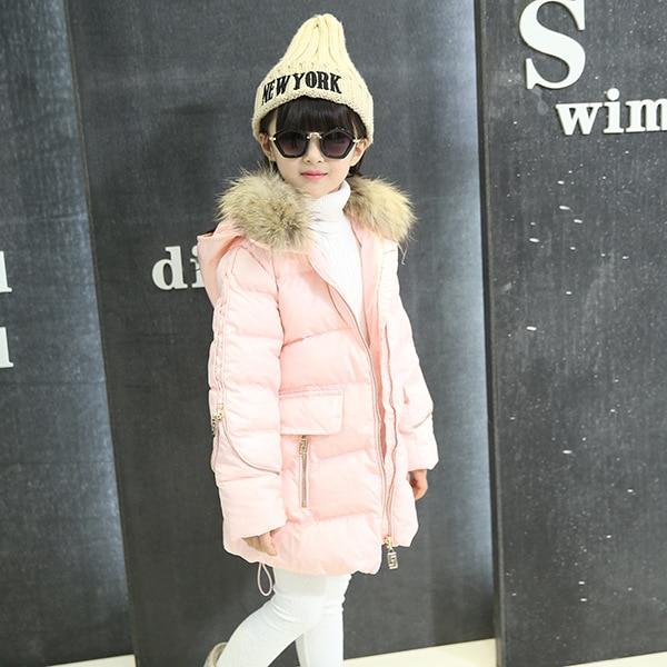 Children Girls Jackets&Coats New 2017 Winter Fashion Fur Hooded Thick Warm  Kids Clothes Cotton Baby Clothing Outwears защитное стекло для sony f3311 xperia e5 caseguru