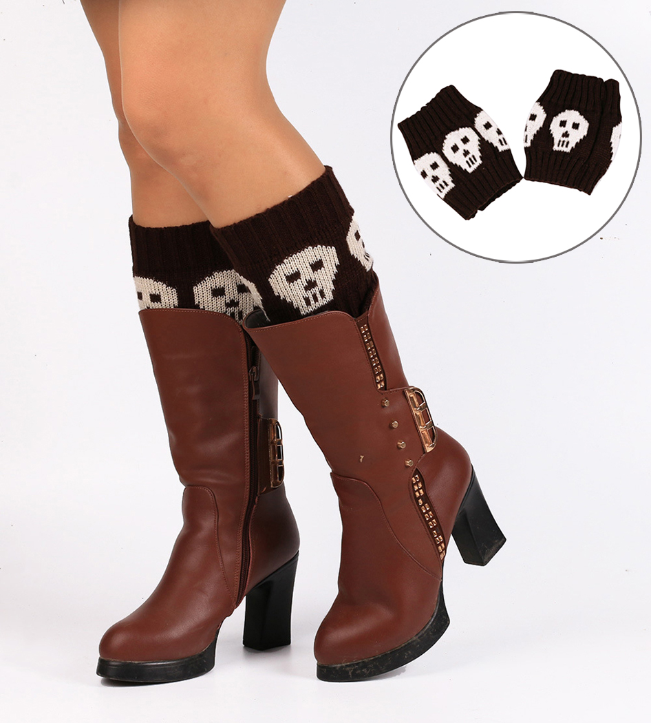 1 Pair Children Halloween Leg Warmers Boys Girls All Season Tight Leggings Adult Arm Warmers Skull Printed Leg Warmer