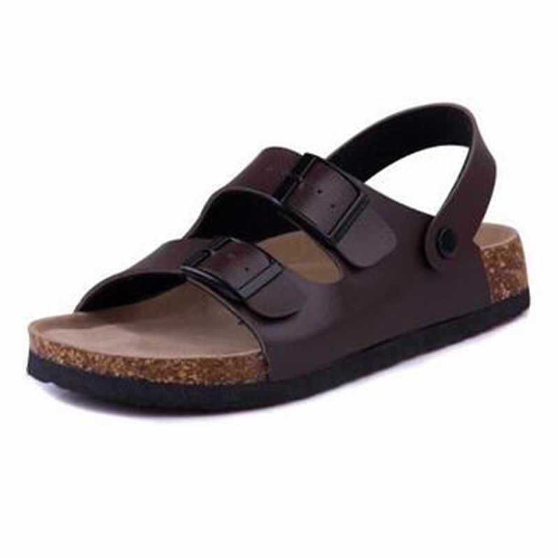 แฟชั่นคู่รองเท้าแตะรองเท้าแตะรองเท้าแตะรองเท้าแตะ 2019 ใหม่ผู้ชายฤดูร้อนชายหาดลำลองรองเท้าแตะพลัสขนาด 35-43 สีดำสีน้ำตาล