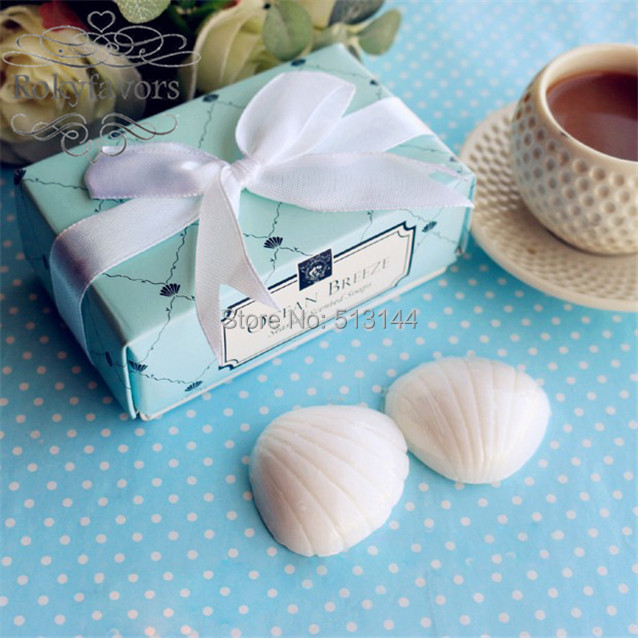 free shipping 20sets seashell soap favors scented soap wedding favors beach theme party favors mini cute soap giftsset of 2 in party favors from home
