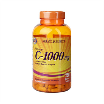 Free shipping vitamin C-1000 mg and rose hips immune system support 250 pcs
