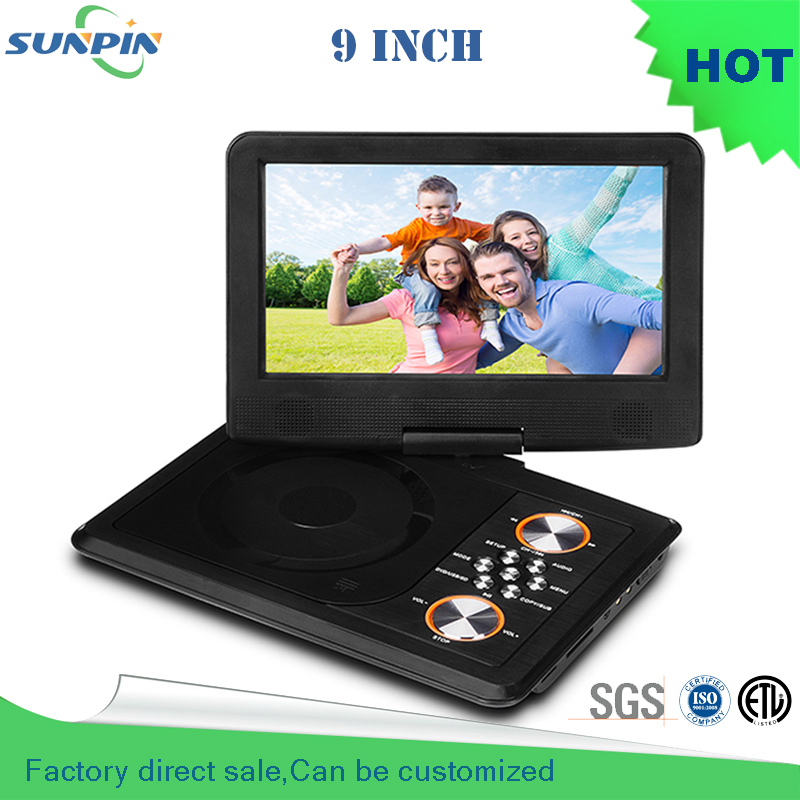 Free Shipping 2016 Direct Selling Dvd Portatil Porta Cd 9 Inch Portable Dvd Player  Support For Sd / Ms Mmc Card гений 2016 dvd