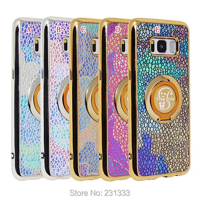 Гальванизируйте Bling Камень Мягкий силиконовый чехол для Samsung Galaxy J3 J5 J7 2017 S6 край S7 S8 плюс Бесплатная Стиль Стенд кожного покрова 100 шт.