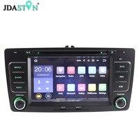 JDASTON Two Din 7 Inch Android 7 1 Car DVD Player For SKODA Octavia 2009 2013
